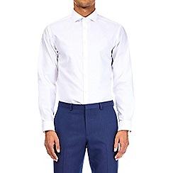 Burton - White tailored fit oxford shirt