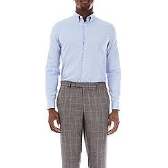 Burton - Blue slim fit herringbone shirt