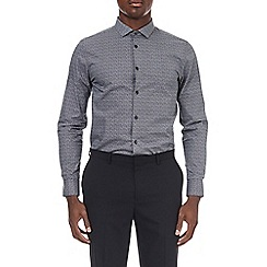 Burton - Grey slim fit scribble print shirt