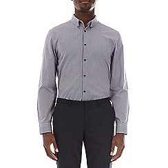 Burton - Burgundy tailored fit gingham shirt