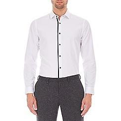Burton - White slim fit tape button down shirt