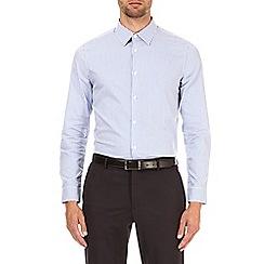 Burton - Blue slim fit bold striped shirt
