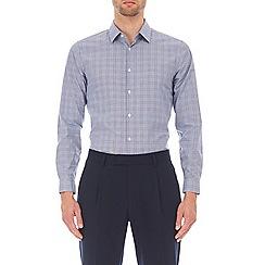 Burton - Blue slim fit 'Prince of Wales' check shirt