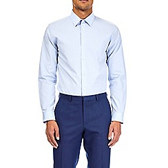 Burton - 2 pack white and blue slim fit easy iron shirts