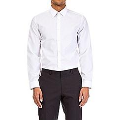 Burton - White slim fit easy iron shirt multipack