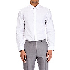 Burton - 2 pack white tailored fit easy iron shirt