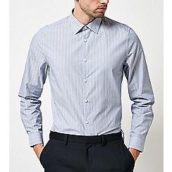 Burton - Blue tailored fit bold stripe shirt