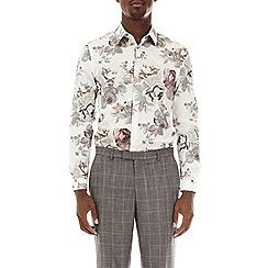 Burton - Multi-coloured skinny fit floral shirt