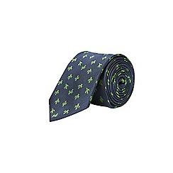 Burton - Navy cactus pattern tie