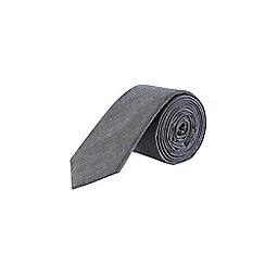 Burton - Dark grey textured tie