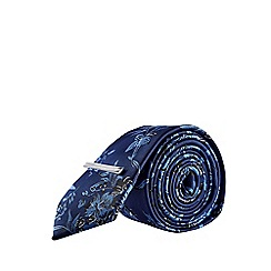Burton - Mid Blue Floral Design Tie