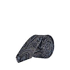 Burton - Charcoal texture paisley design tie