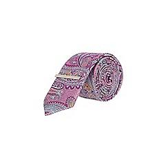 Burton - Pink paisley clip tie
