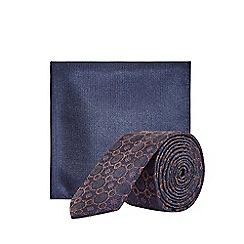 Burton - Rusty Retro Design Tie and Pocket Square Set