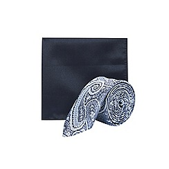 Burton - Silver and blue paisley set