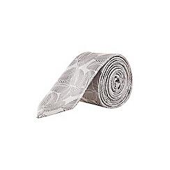 Burton - Silver leaf tie
