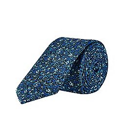 Burton - Blue Ditsy Floral Print Tie