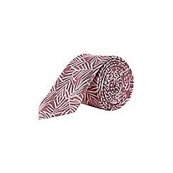 Burton - Pink leaf tie