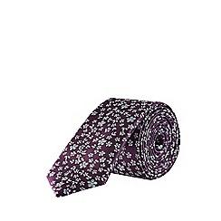 Burton - Purple Mini Floral Tie