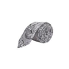 Burton - Grey paisley clip tie
