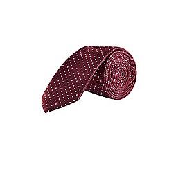 Burton - Red polka dot tie with clip