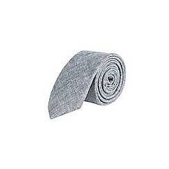Burton - Grey cotton tie