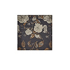 Burton - Black and Gold Floral Tie and Pocket Square Set
