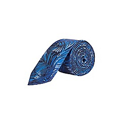 Burton - Cobalt leaf print tie