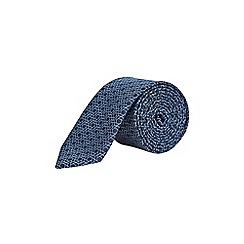 Burton - Navy geometric design lining tie