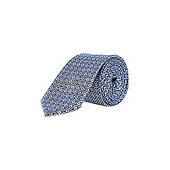 Burton - Blue tie and pocket square swirl set