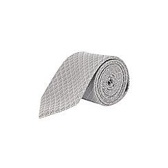 Burton - White diamond tie and pocket square set