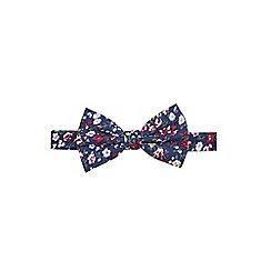 Burton - Navy floral print bow tie