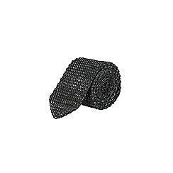 Burton - Charcoal twist knit tie