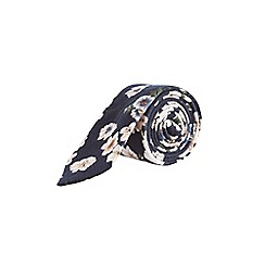 Burton - Navy mutli coloured floral soft handle tie