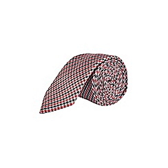 Burton - Red dogtooth checked tie