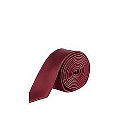 Burton - Burgundy skinny tie