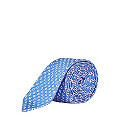 Burton - Blue and Red Polka Dot Tie