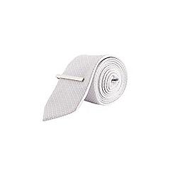 Burton - Silver textured geometric clip