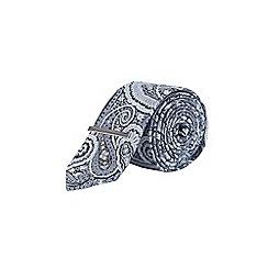 Burton - Light blue paisley clip