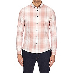 Burton - Pink checked long sleeve shirt