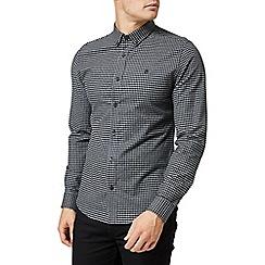 Burton - Grey and black gingham long sleeves shirt