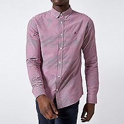 Burton - White berry long sleeves gingham shirt