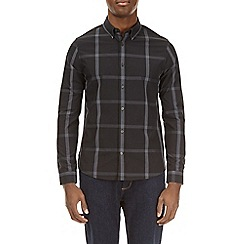 Burton - Black long sleeve smart checked shirt