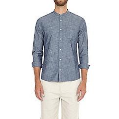 Burton - Light wash blue long sleeve stretch denim shirt