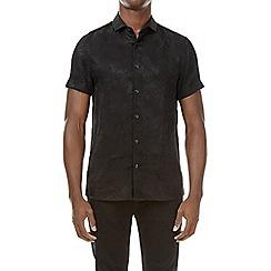 Burton - Black feather print short sleeve shirt