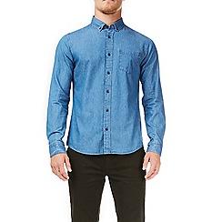 Burton - Mid wash long sleeves denim shirt