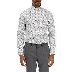Burton - Grey long sleeve abstract print shirt