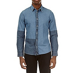 Burton - Blue long sleeve cut and sew shirt