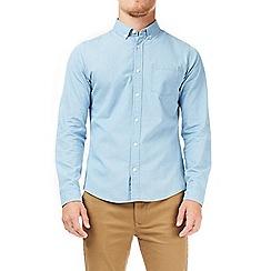 Burton - Blue light wash long sleeves denim shirt