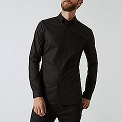 Burton - Black long sleeve embroidered shirt